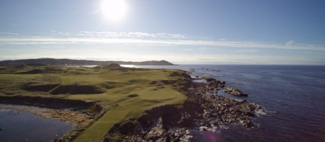 Hole 9 of 18 Great Holes on Wild Atlantic Way Golf Tours. one of Best 18 golf holes